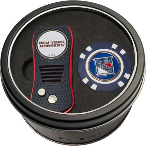 Team Golf New York Rangers Switchfix Divot Tool and Poker Chip Ball Marker Set product image