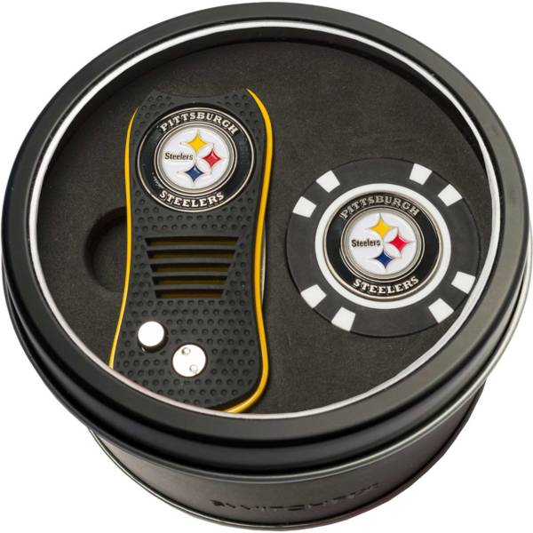 Team Golf Pittsburgh Steelers Switchfix Divot Tool and Poker Chip Ball Marker Set product image
