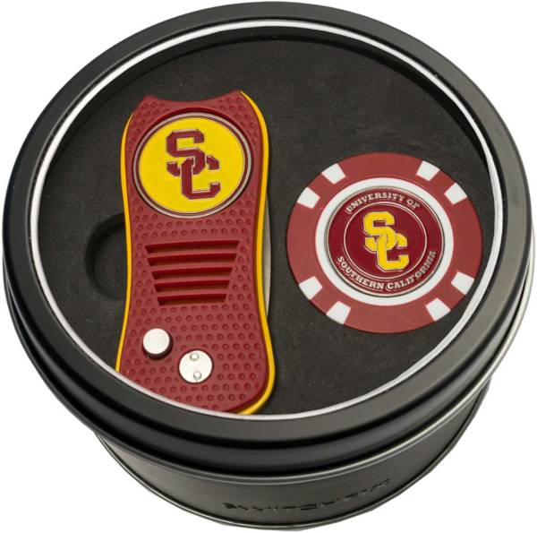 Team Golf USC Trojans Switchfix Divot Tool and Poker Chip Ball Marker Set product image
