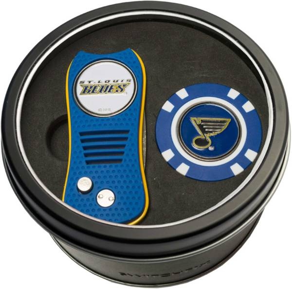 Team Golf St. Louis Blues Switchfix Divot Tool and Poker Chip Ball Marker Set product image