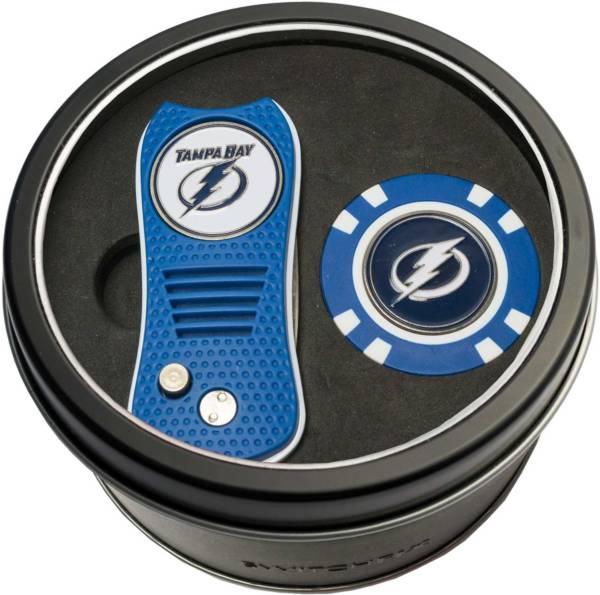 Team Golf Tampa Bay Lightning Switchfix Divot Tool and Poker Chip Ball Marker Set product image