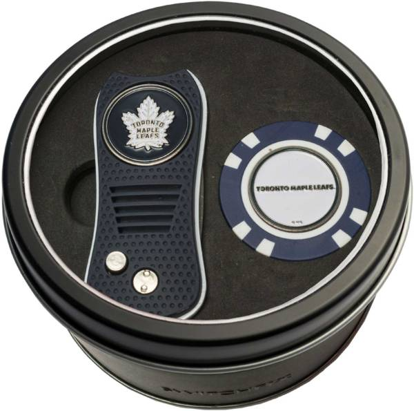 Team Golf Toronto Maple Leafs Switchfix Divot Tool and Poker Chip Ball Marker Set product image