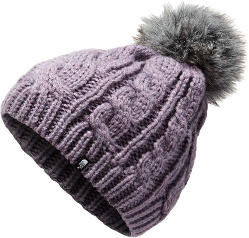 9c868cb2f8d The North Face Youth Triple Cable Fur Pom Beanie