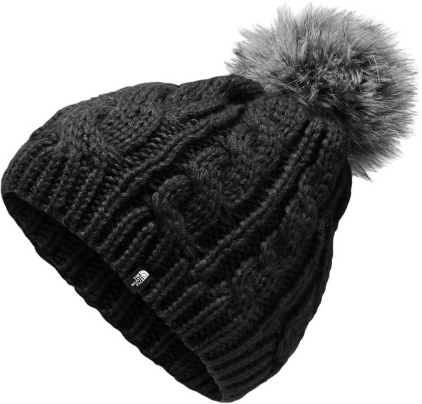 The North Face Youth Triple Cable Fur Pom Beanie product image