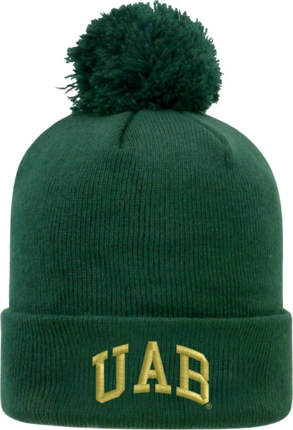Top of the World Men's UAB Blazers Green Pom Knit Beanie product image