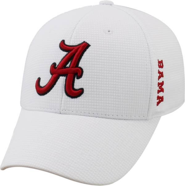 Top of the World Men's Alabama Crimson Tide White Booster Plus 1Fit Flex Hat product image