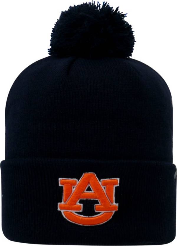 Top of the World Men's Auburn Tigers Blue Pom Knit Beanie product image