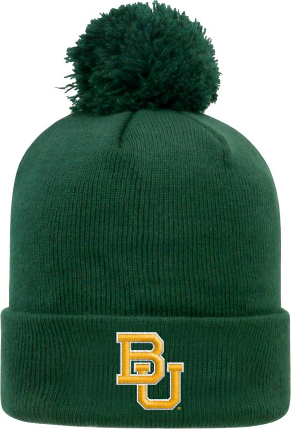 Top of the World Men's Baylor Bears Green Pom Knit Beanie product image