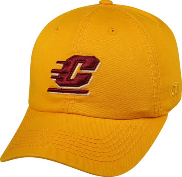 Top of the World Men's Central Michigan Chippewas Gold Crew Adjustable Hat product image