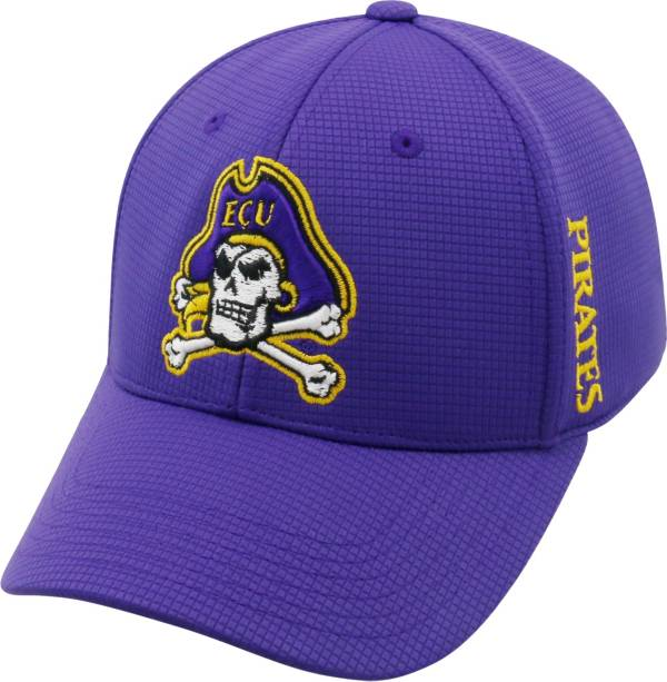 Top of the World Men's East Carolina Pirates Purple Booster Plus 1Fit Flex Hat product image