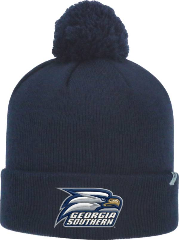 Top of the World Men's Georgia Southern Eagles Navy Pom Knit Beanie product image