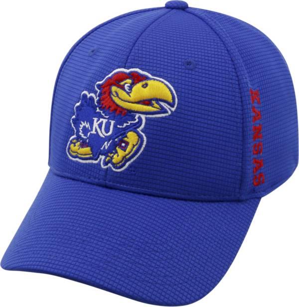 Top of the World Men's Kansas Jayhawks Blue Booster Plus 1Fit Flex Hat product image