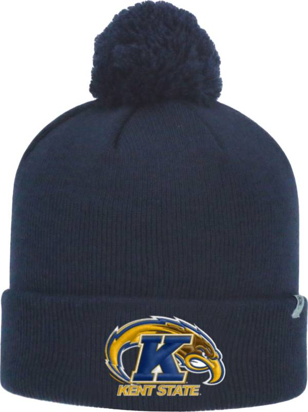 Top of the World Men's Kent State Golden Flashes Navy Blue Pom Knit Beanie product image