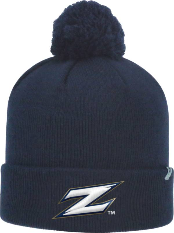 Top of the World Men's Akron Zips Navy Pom Knit Beanie product image