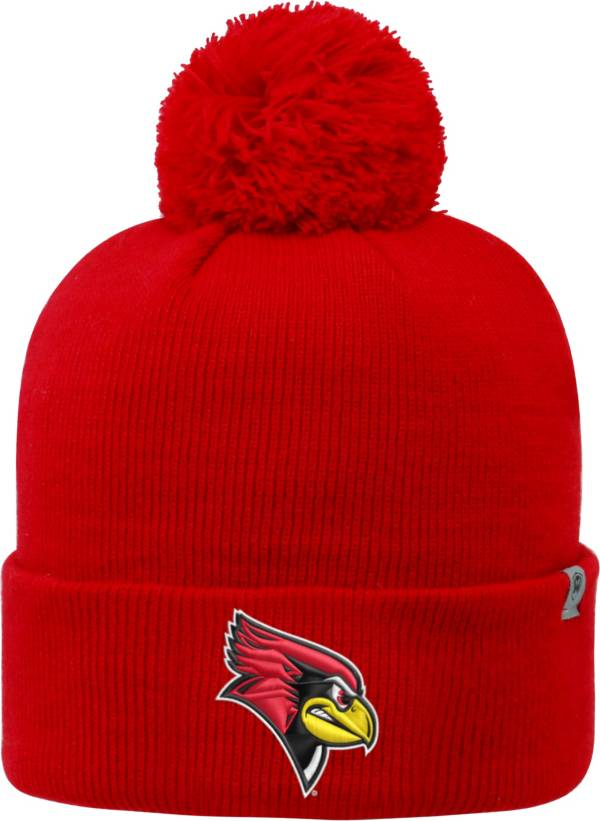 Top of the World Men's Illinois State Redbirds Red Pom Knit Beanie product image