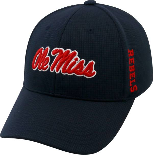 Top of the World Men's Ole Miss Rebels Blue Booster Plus 1Fit Flex Hat product image