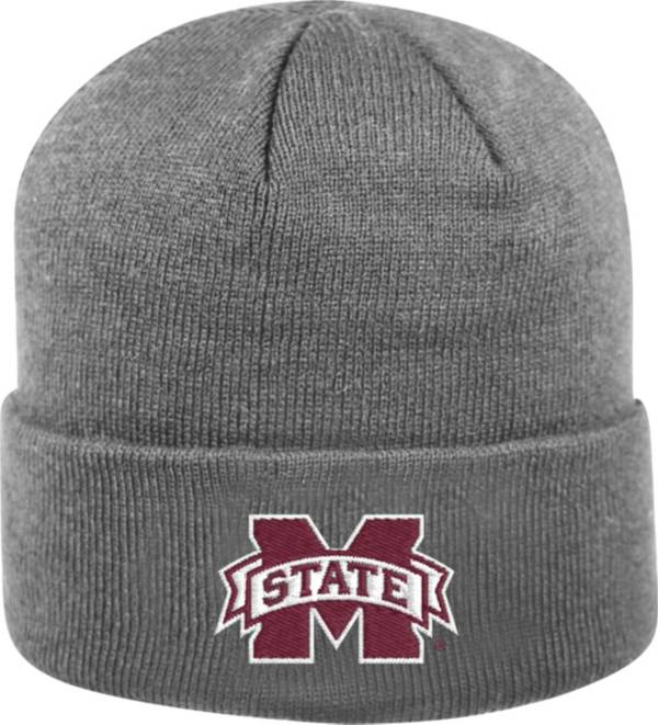 Top of the World Men's Mississippi State Bulldogs Grey Cuff Knit Beanie product image