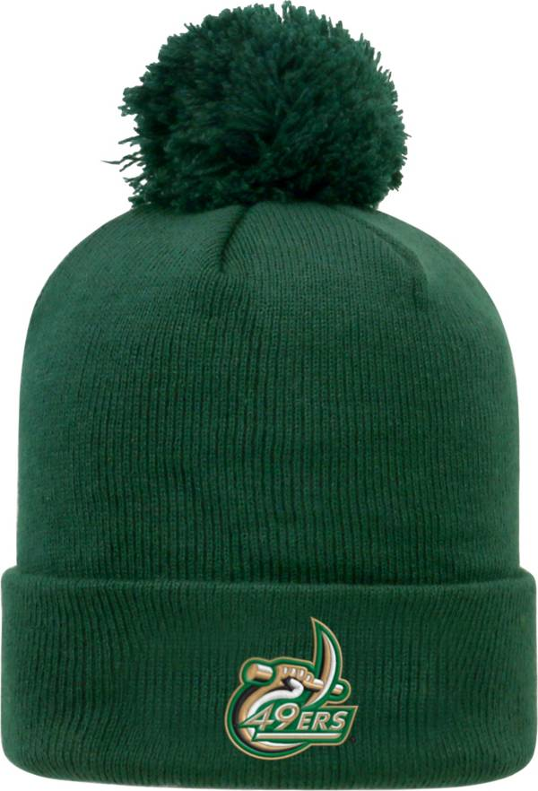 Top of the World Men's Charlotte 49ers Green Pom Knit Beanie product image
