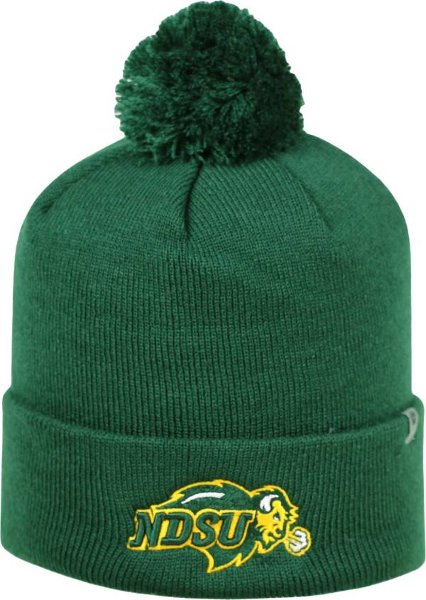 Top of the World Men's North Dakota State Bison Yellow Pom Knit Beanie product image