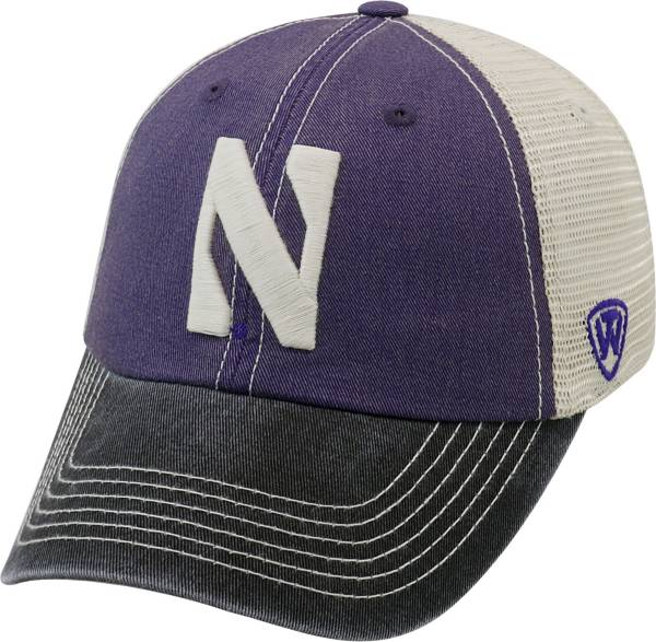 Top of the World Men's Northwestern Wildcats Purple/White/Black Off Road Adjustable Hat product image
