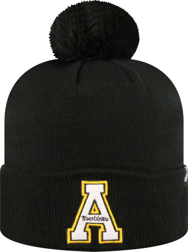 Top of the World Men's Appalachian State Mountaineers Black Pom Knit Beanie product image