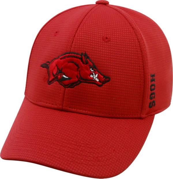 Top of the World Men's Arkansas Razorbacks Cardinal Booster Plus 1Fit Flex Hat product image