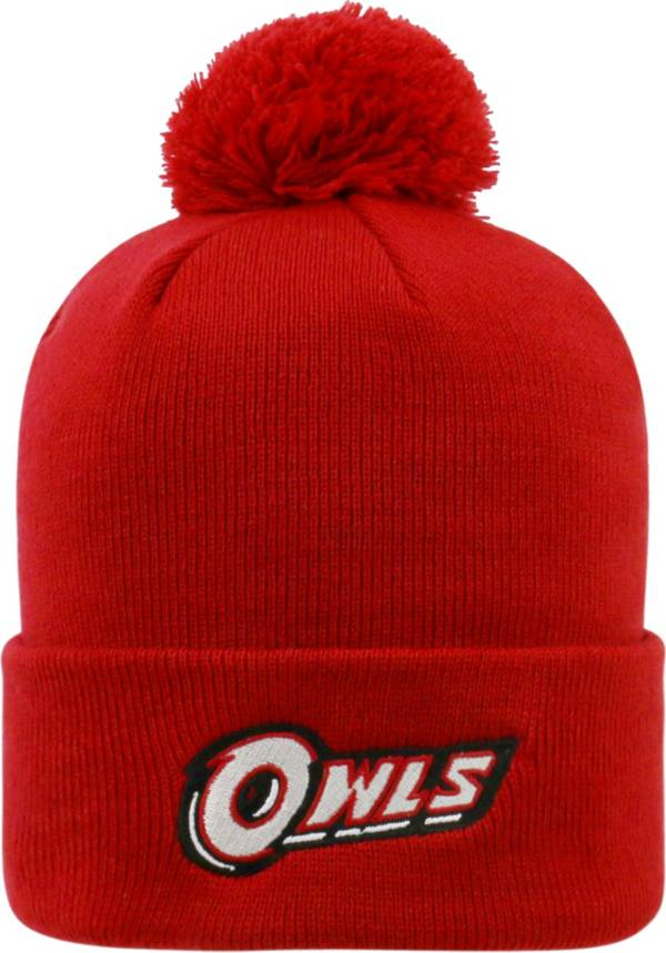 Top of the World Men's Temple Owls Cherry Pom Knit Beanie product image