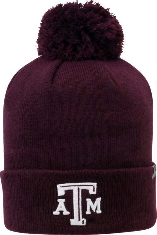 meet a74bd 32f5d ... sale top of the world mens texas am aggies maroon pom knit beanie 31438  bacfe