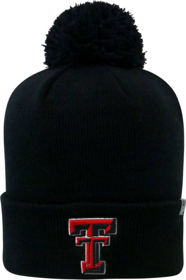Top of the World Men's Texas Tech Red Raiders Black Pom Knit Beanie product image
