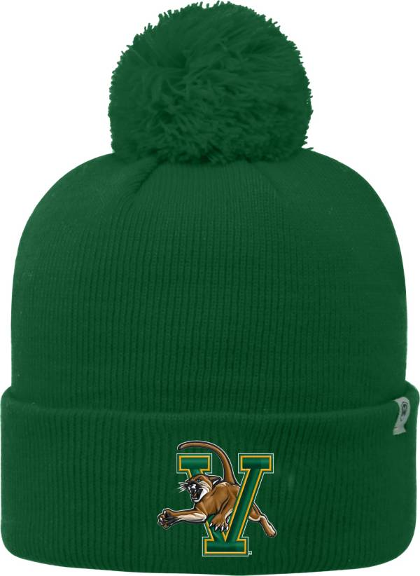 Top of the World Men's Vermont Catamounts Green Pom Knit Beanie product image