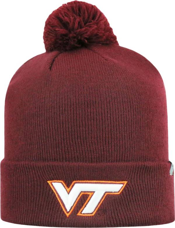 Top of the World Men's Virginia Tech Hokies Maroon Pom Knit Beanie product image
