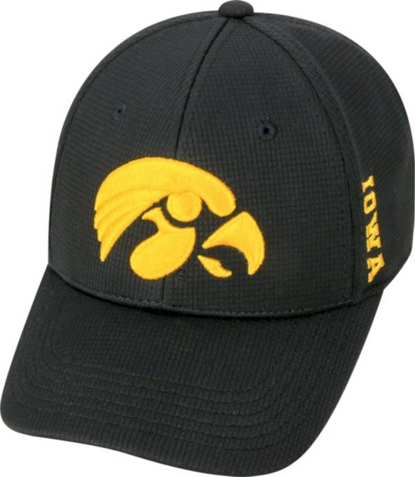 Top of the World Men's Iowa Hawkeyes Black Booster Plus 1Fit Flex Hat product image