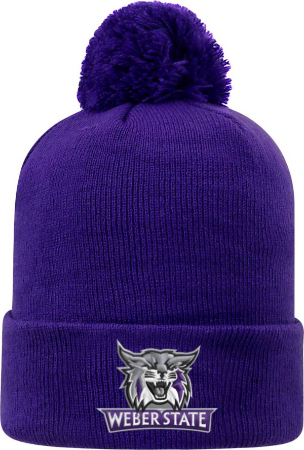 Top of the World Men's Weber State Wildcats Purple Pom Knit Beanie product image