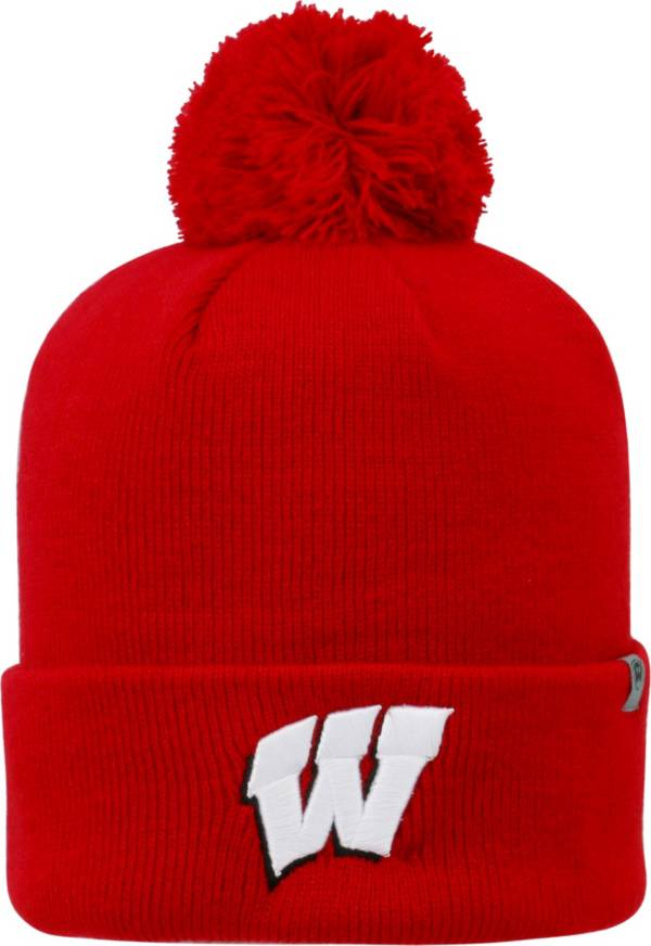 Top of the World Men's Wisconsin Badgers Red Pom Knit Beanie product image