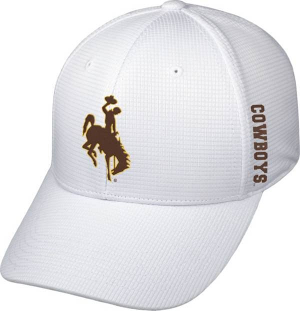 Top of the World Men's Wyoming Cowboys White Booster Plus 1Fit Flex Hat product image