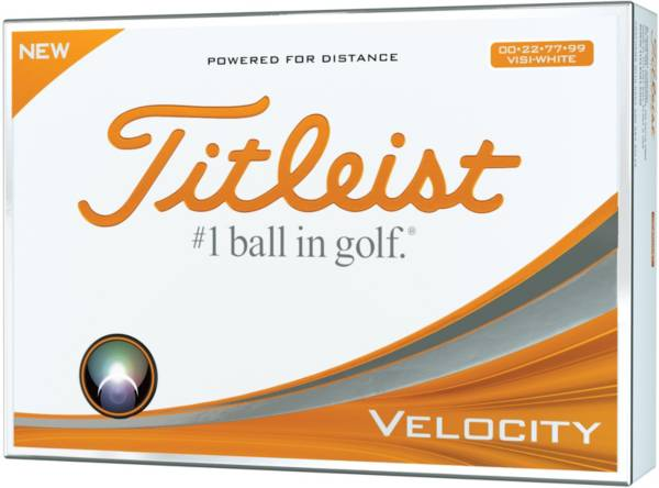 Titleist Velocity Double Numbers Golf Balls - Prior Generation product image