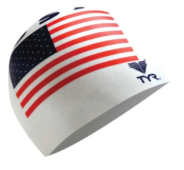 TYR USA Silicone Swim Cap product image