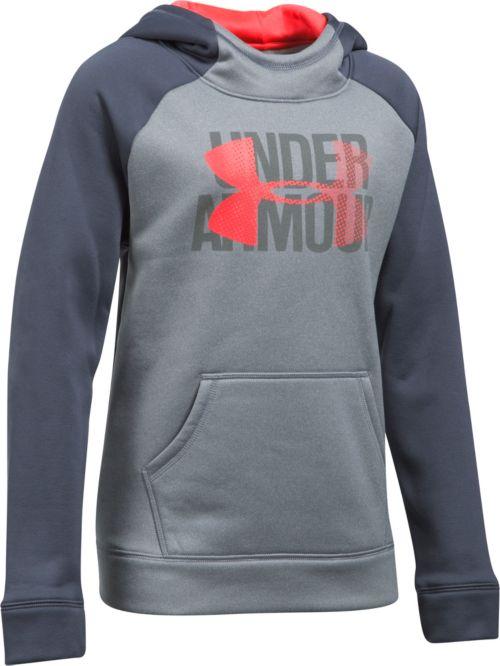fdbd361c07a7 Under Armour Girls  Armour Fleece Big Logo Hoodie