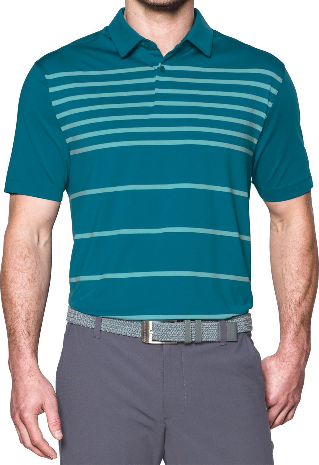 605f6d38 Under Armour Men's CoolSwitch Brassie Stripe Golf Polo. noImageFound.  Previous