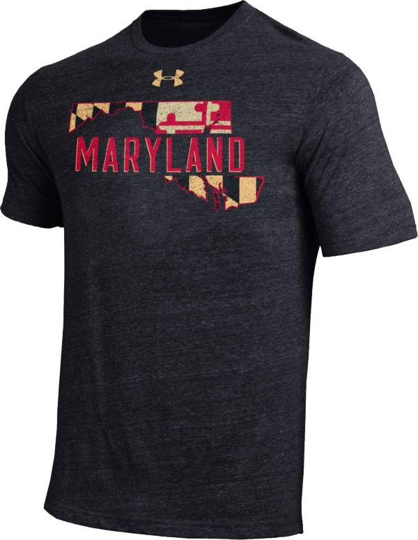 Under Armour Men's Maryland Terrapins Black Tri-Blend Performance T-Shirt product image