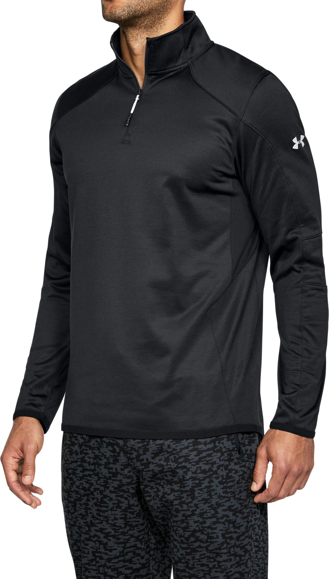 60fe429c Under Armour Men's ColdGear Reactor 1/4 Zip Long Sleeve T-Shirt