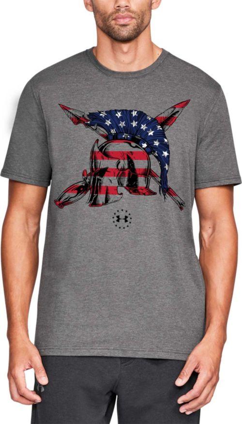e5df4c228865 Under Armour Men s Freedom Spartan Flag T-Shirt