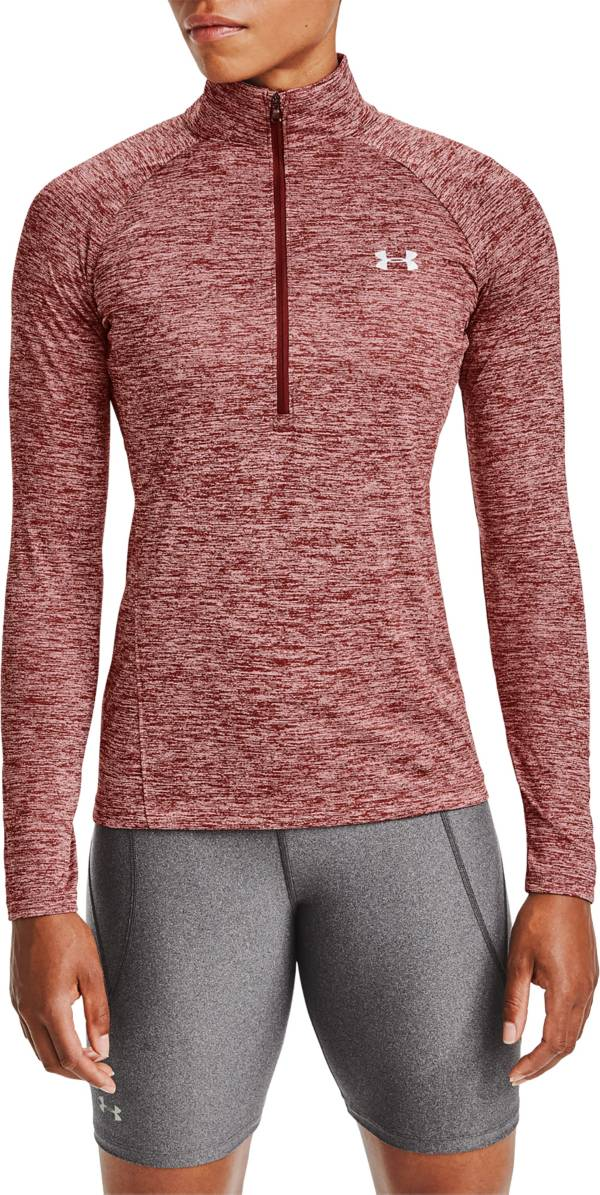 Under Armour Women's Tech Twist-Print Half Zip Long Sleeve Shirt product image