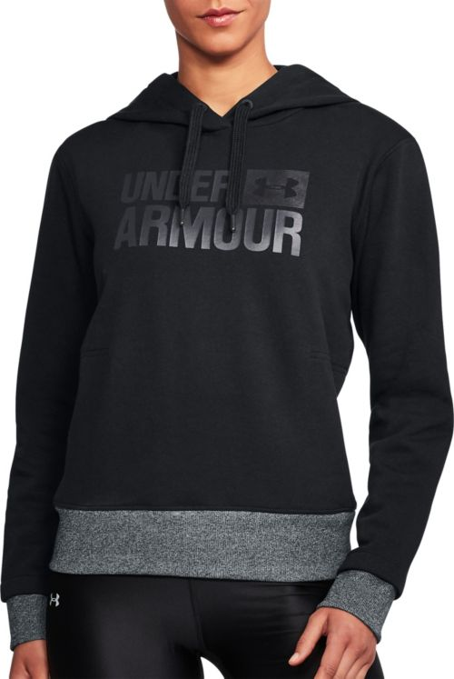 1ca03ac3a11 Under Armour Women s Threadborne Fleece Wordmark Logo Hoodie. noImageFound.  Previous
