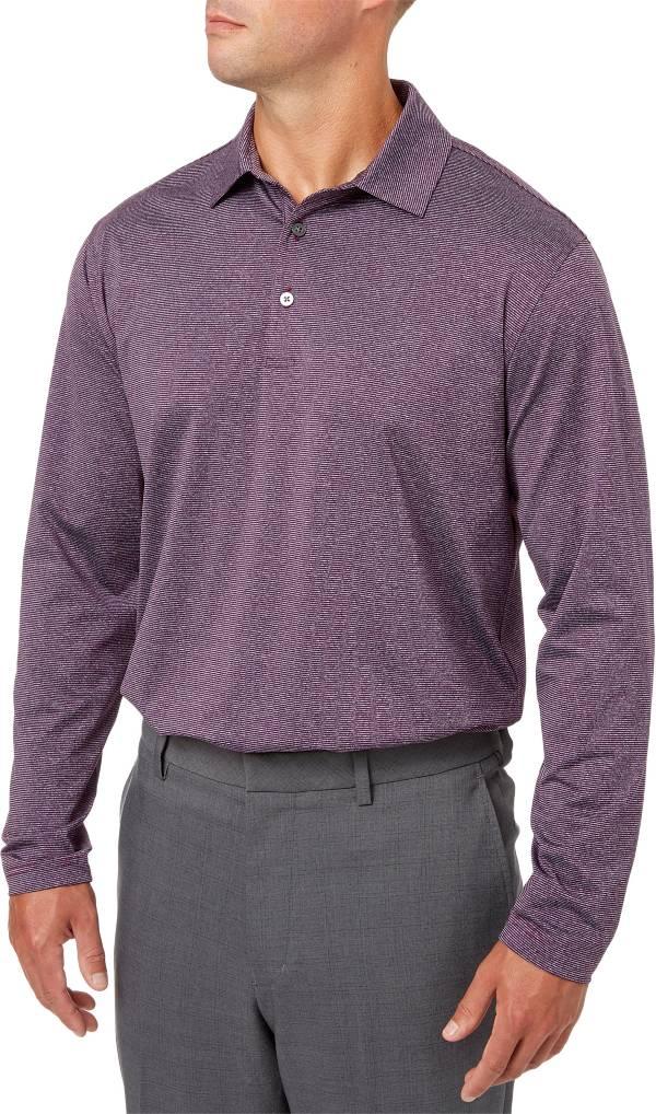 Walter Hagen Men's Essentials Long Sleeve Stripe Golf Polo product image