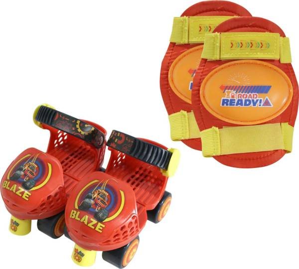 Playwheels Boys' Blaze and the Monster Machines Roller Skates and Knee Pads product image