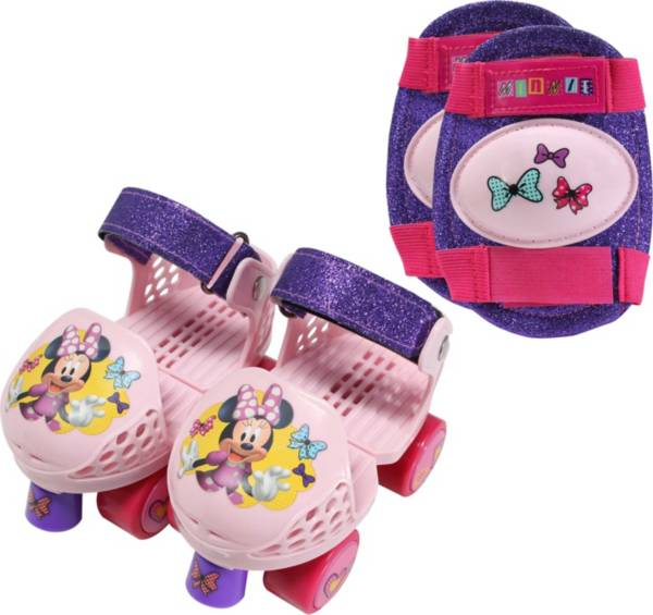Playhweels Girls' Disney Minnie Mouse Roller Skates and Knee Pads product image