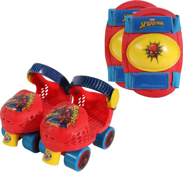 Playwheels Boys' Spider-Man Roller Skates and Knee Pads product image