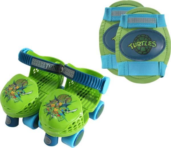 Playwheels Boys' Teenage Mutant Ninja Turtles Roller Skates and Knee Pads product image