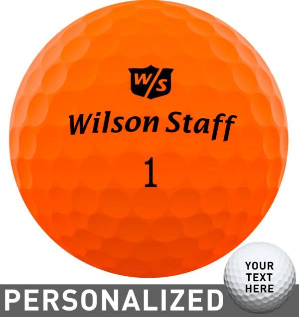 Wilson Staff Duo Soft Optix Orange Personalized Golf Balls product image